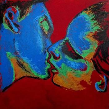 Lovers - Tender Kiss by Carmen Tyrrell