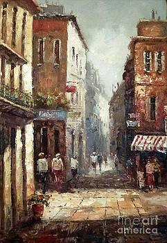 Loving narrow streets by AmaS Art