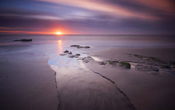 Low Tide at Glyne Gap by Mark Leader