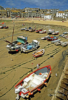 Low tide at St Ives Cornwall UK 1990 by David Davies