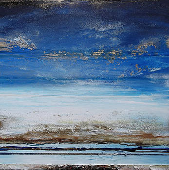Low tide beach Rhythms and textures blue series1 by Mike   Bell