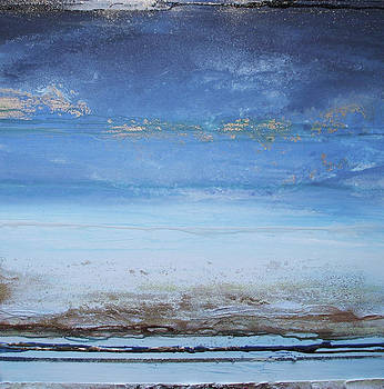 Low Tide beach Rhythms and Textures Blue Series1a by Mike   Bell