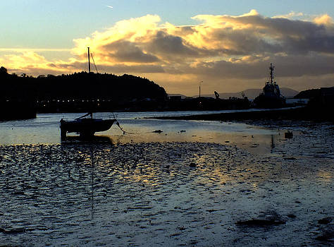 Low tide on the Harbour by Phil Darby
