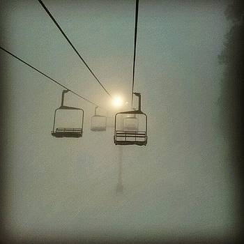 Low Visibility #mthigh #chairlift #fog by HK Moore