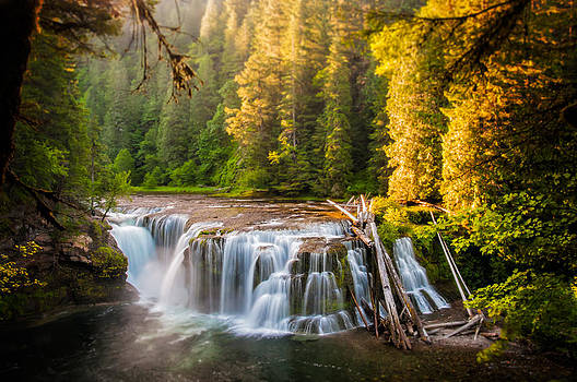 Lower Lewis River Falls Sunrise by Brian Bonham