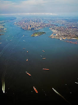 Lower Manhattan and New York Bay II by Greg Reed