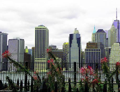 Lower Manhattan from Promenade by Palmer Hasty