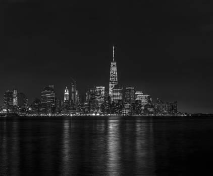 David Morefield - Lower Manhattan Skyline Black and White