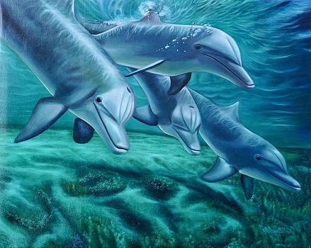 Loyal Dolphins by Ruben Archuleta - Art Gallery