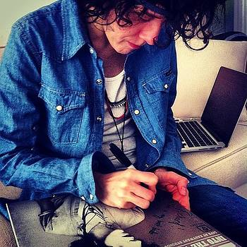 Lp Signing Her Vinyl Ep For Me! by Richard Reens