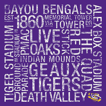 LSU College Colors Subway Art by Replay Photos