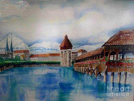 Lucerne Bridge by Sandra McClure