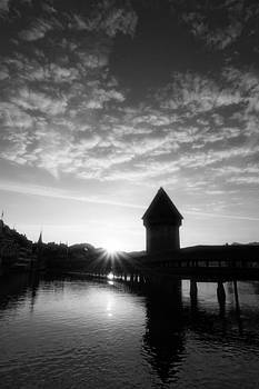 Lucerne Switzerland at sunrise by Ron Sumners