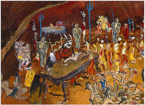 Lucifer recoit a son bureau by Bernard RENOT