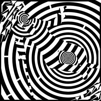 Luck be a Maze Tonight by Yonatan Frimer Maze Artist