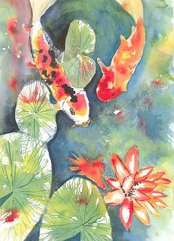 Lucky Koi Pond by David Crowell