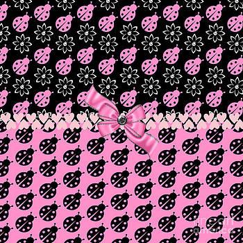 Lucky Pink Ladybugs by Debra  Miller