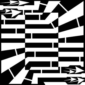 Lucky Rectangle Maze by Yonatan Frimer Maze Artist