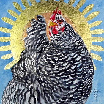 Lucy In The Sky - Celestial Chicken by Kirsten Beitler