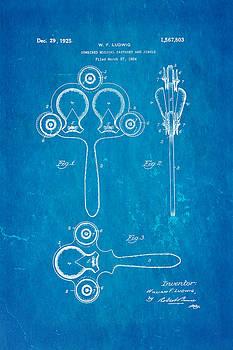 Ian Monk - Ludwig Castanet Patent Art 1925 Blueprint