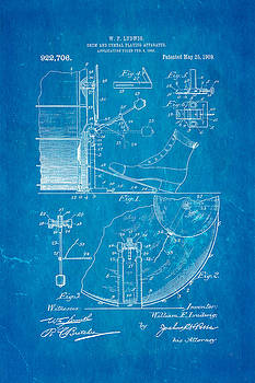 Ian Monk - Ludwig Drum and Cymbal Apparatus Patent Art 1909 Blueprint