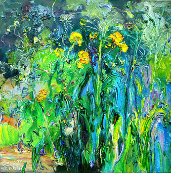 Luffa flowers by Zhang JIyu