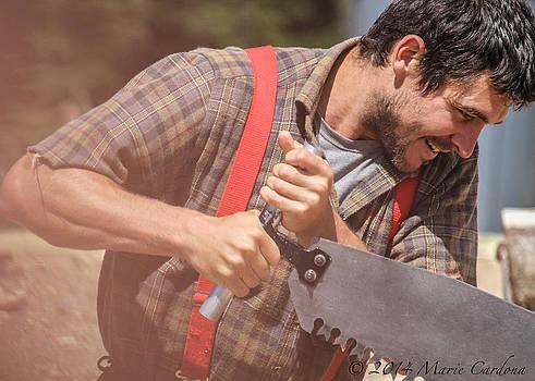 Lumberjack Action by Marie  Cardona