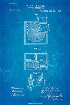 Ian Monk - Lumiere Projector Patent Art 1897 Blueprint