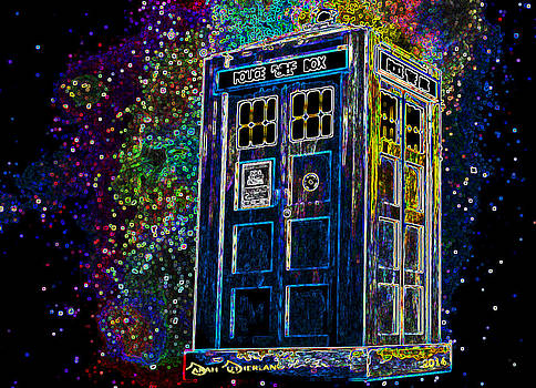 Luminous TARDIS by Sarah Sutherland