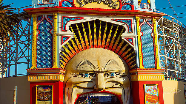 Luna Park Face at Sunset by Steven Jodoin