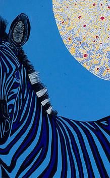 Lunar Blue Zebra by Patrick OLeary