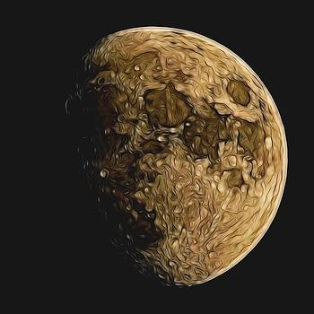 Lunar drawing  by Ron Harpham