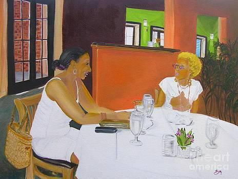 Lunch at Olivadi's  by Barbara Hayes