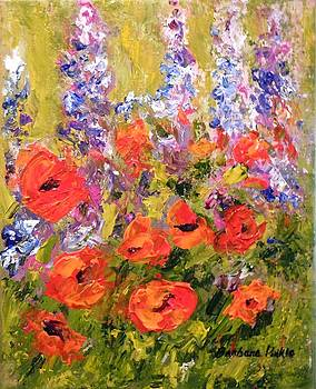Lupines and Poppies by Barbara Pirkle