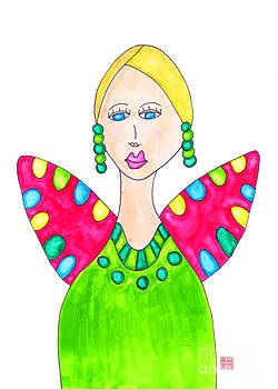 Lupita Portrait Ashley in a Green Dress by Emily Lupita Studio