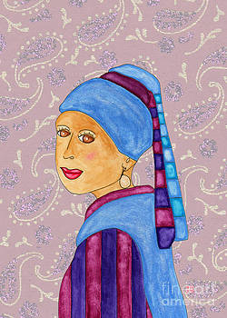 Lupita with a Pearl Earring 2 by Emily Lupita Studio