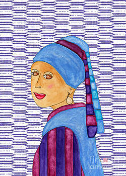 Lupita with a Pearl Earring 3 by Emily Lupita Studio