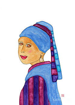 Lupita with a Pearl Earring by Emily Lupita Studio