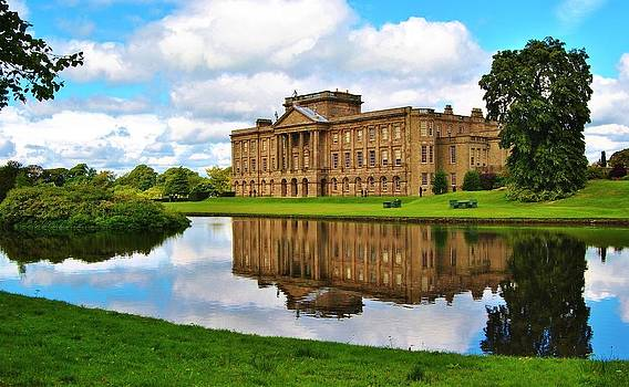 Lyme Park Hall and Lake by Paul Fox
