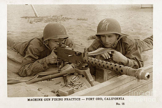 California Views Mr Pat Hathaway Archives - M1919A4 .30-caliber Light machine gun  Fort Ord Monterey Army Base California 1953