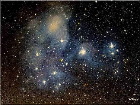 M45 Star Cluster by Wagner Chaves