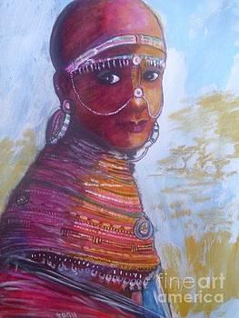 Maasai Bride. by Nixon Mwangi