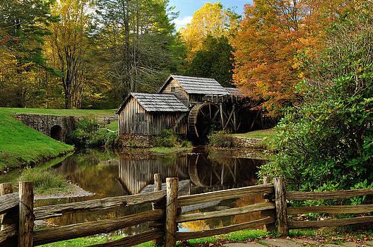 Mabry Mill Autumn 2013 by Greg Dollyhite