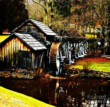 Nancy Stein - Mabry Mill On A Winters Day