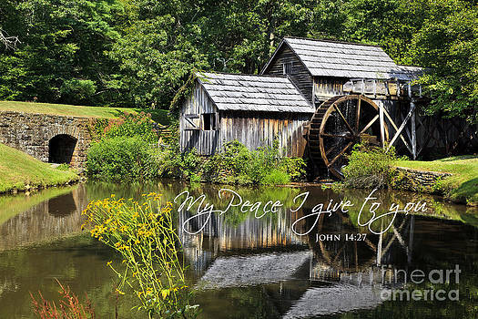 Jill Lang - Mabry Mill with Scripture