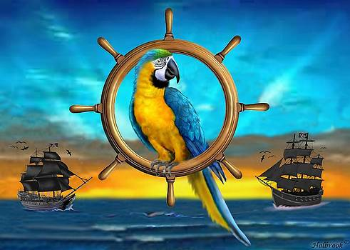 Macaw Pirate Parrot by Glenn Holbrook