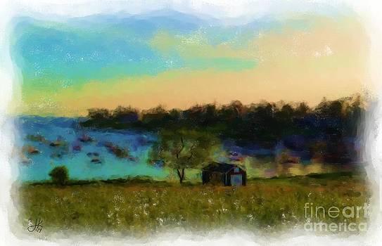 Mackerel Cove In Shadow 932 20140831 by Julie Knapp