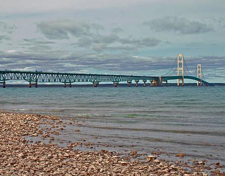 Mackinac Bridge by Brady D Hebert