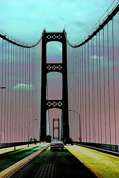 Mackinac Bridge Fantasy by Terri Harper