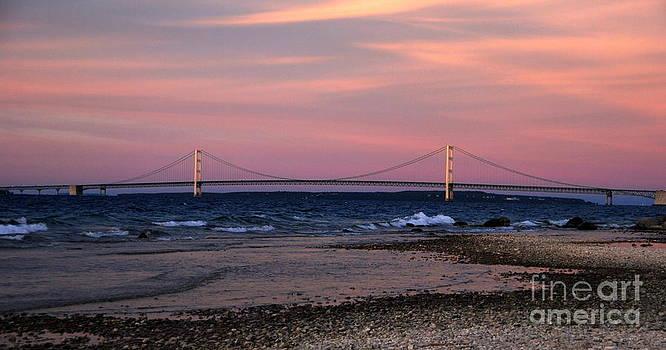 Mackinac Bridge Sunset by Christy Phillips